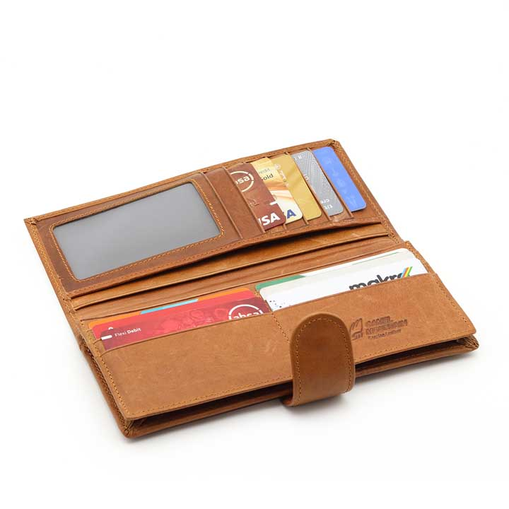 Ladies Leather Wallet - Hazelnut