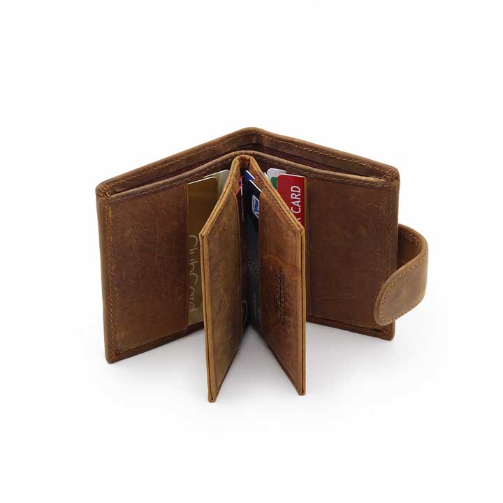 Mens Modern Leather Wallet - Tan