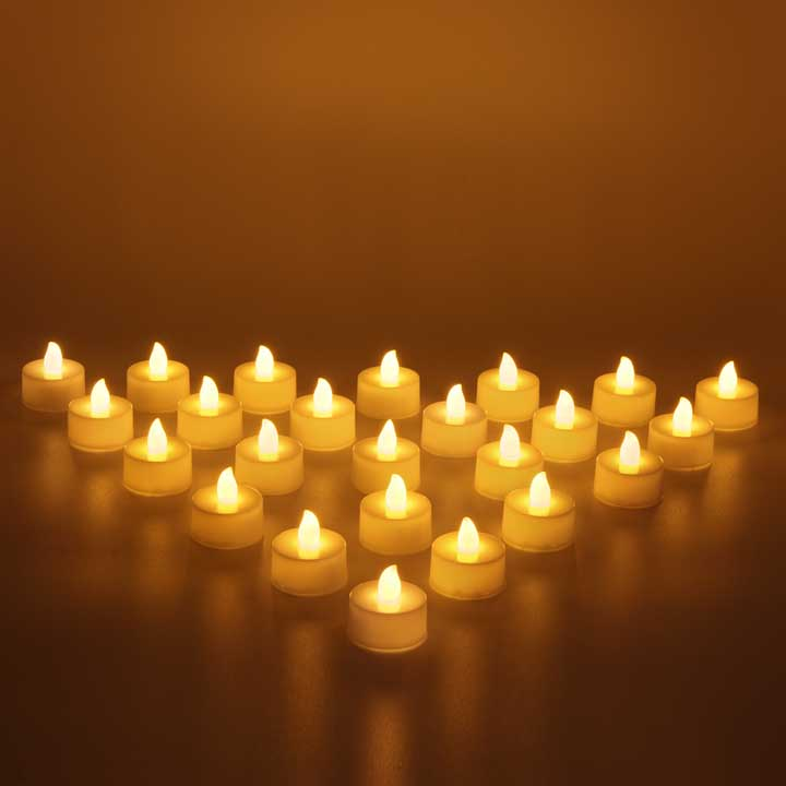 Flameless small LED Tea Light Candle - set of 24