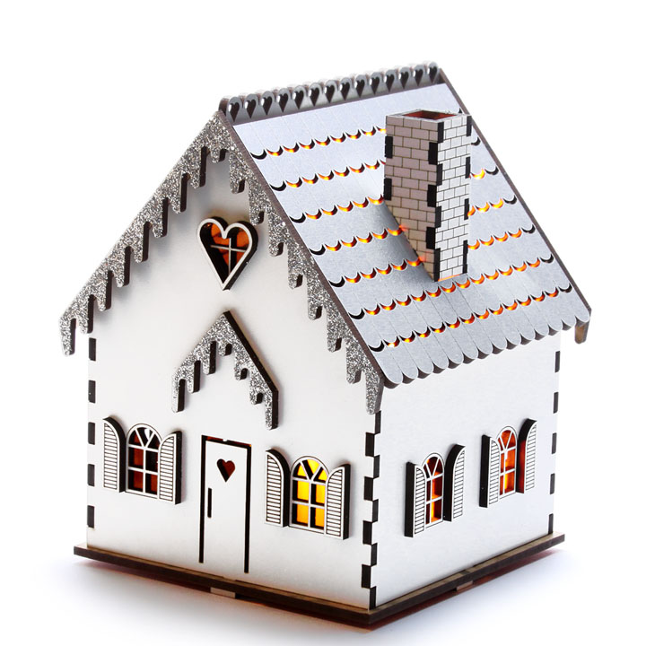 Flickering House - large - silver
