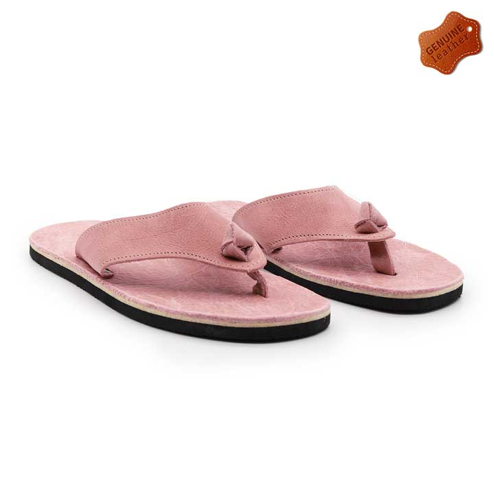 LADIES | Leather Flip Flops - Pink