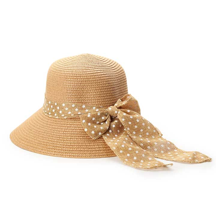 Ladies Polka Hat - Camel