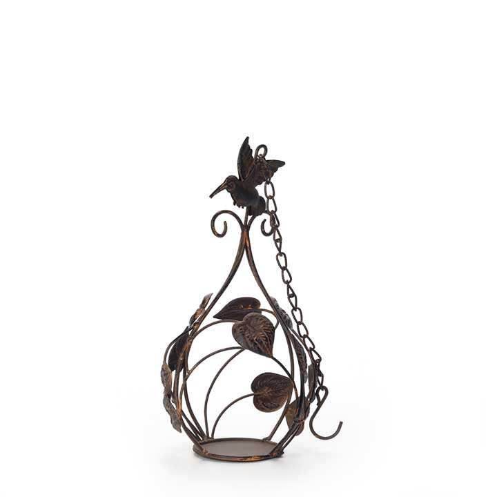 Hanging Candle Holder - Brown