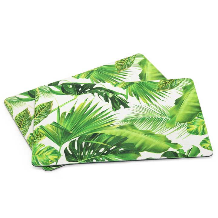 Palm Leaves Placemats - White