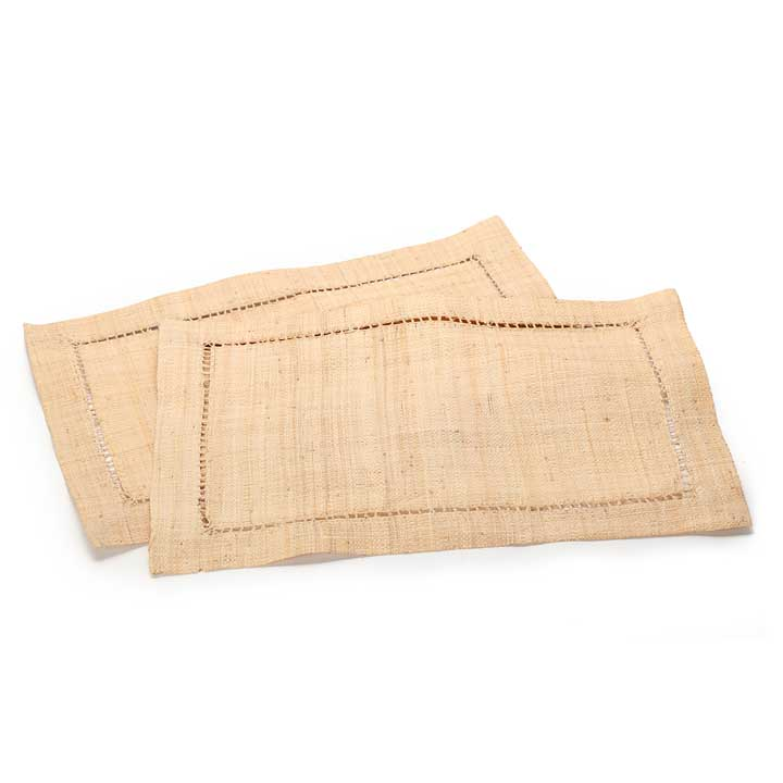 Raffia Placemat Sets - Natural