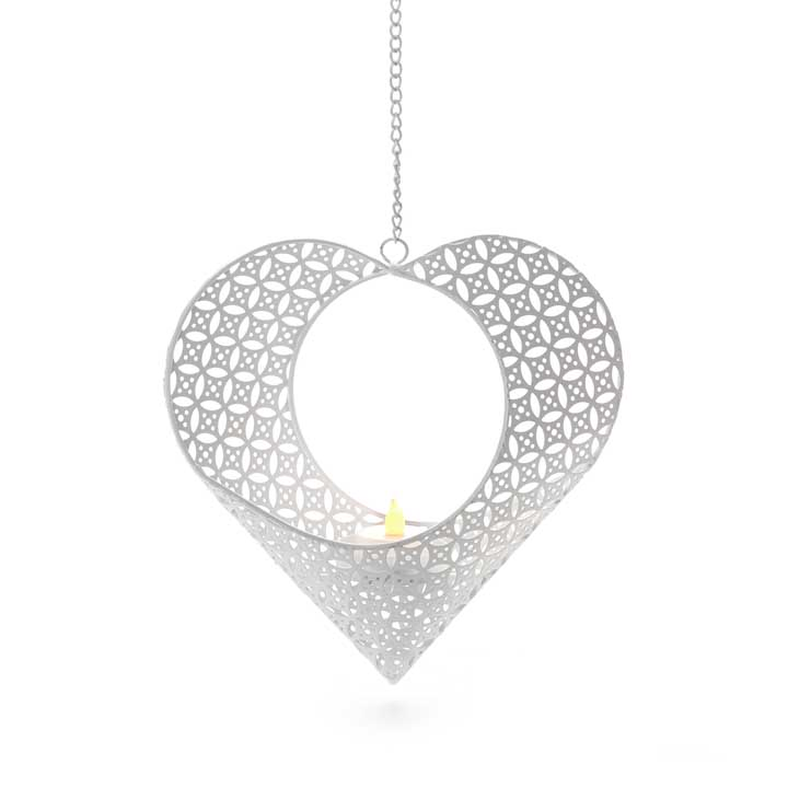 Hanging Heart with LED Candle