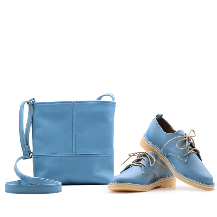 Matching Blue | Vellies & sling bag combo